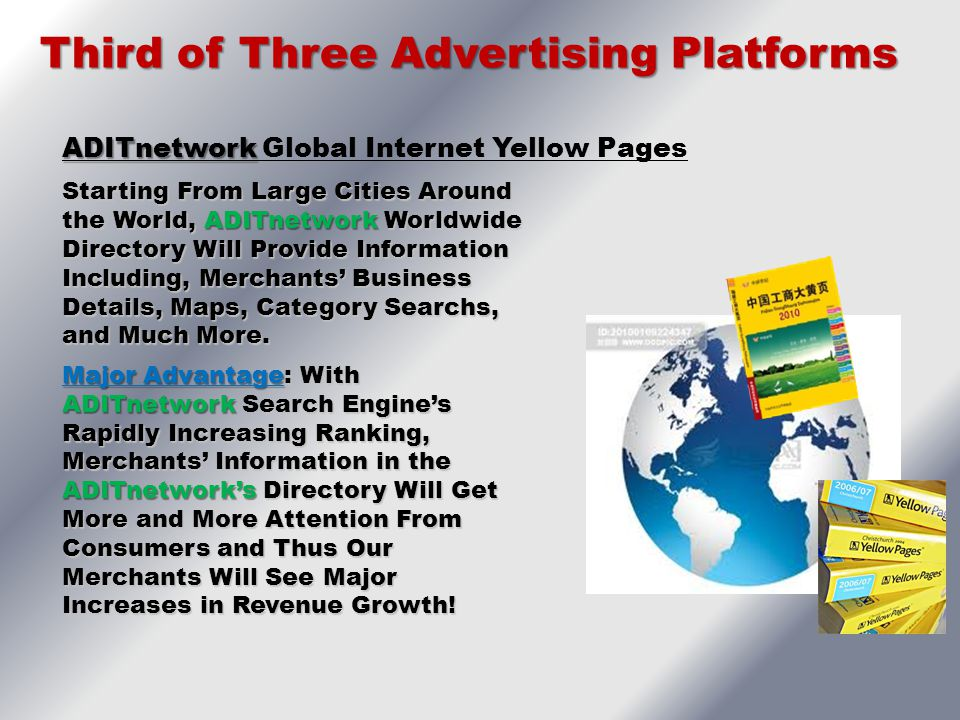 Third of Three Advertising Platforms