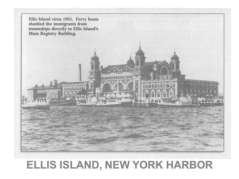ELLIS ISLAND, NEW YORK HARBOR