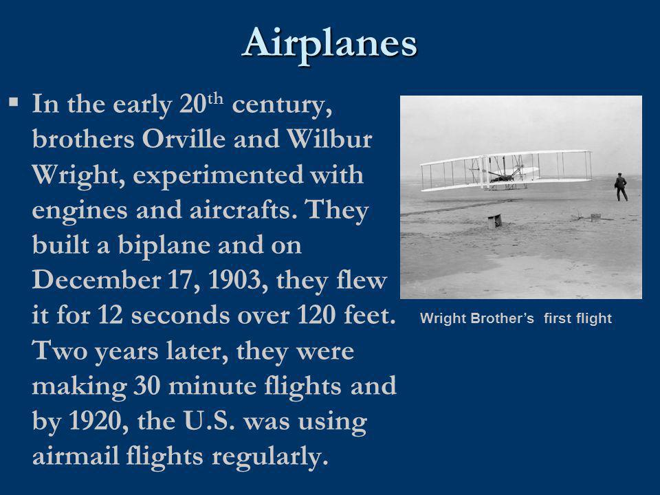 Wright Brother's first flight
