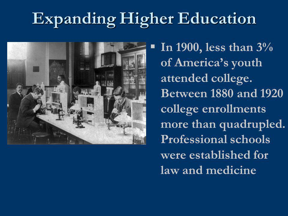 Expanding Higher Education
