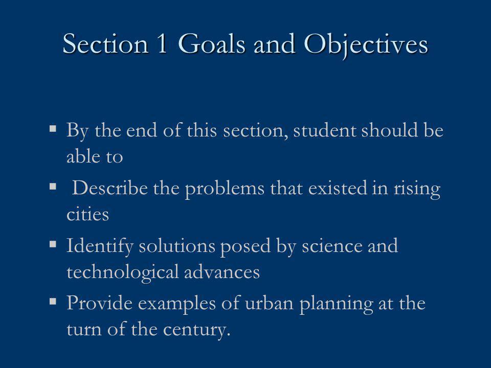 Section 1 Goals and Objectives