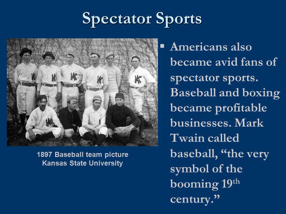 1897 Baseball team picture Kansas State University