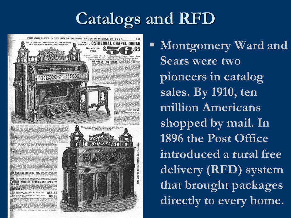 Catalogs and RFD