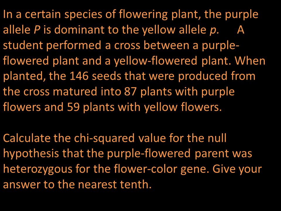 In a certain species of flowering plant, the purple allele P is dominant to the yellow allele p.