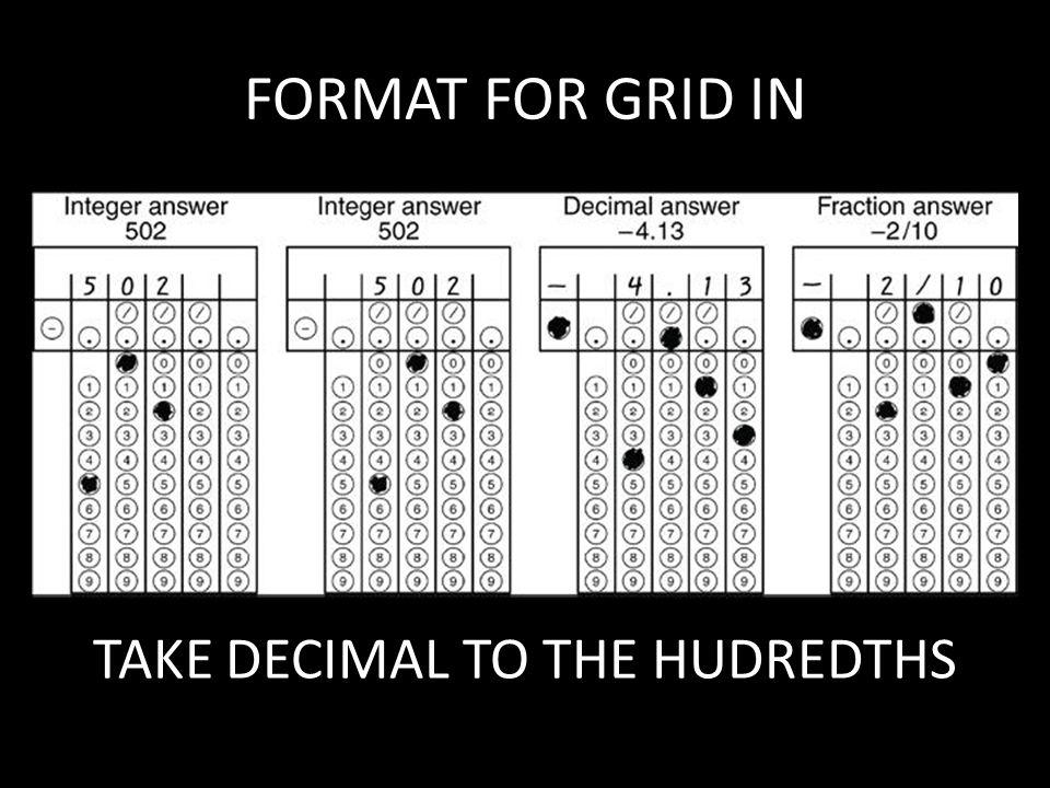 TAKE DECIMAL TO THE HUDREDTHS