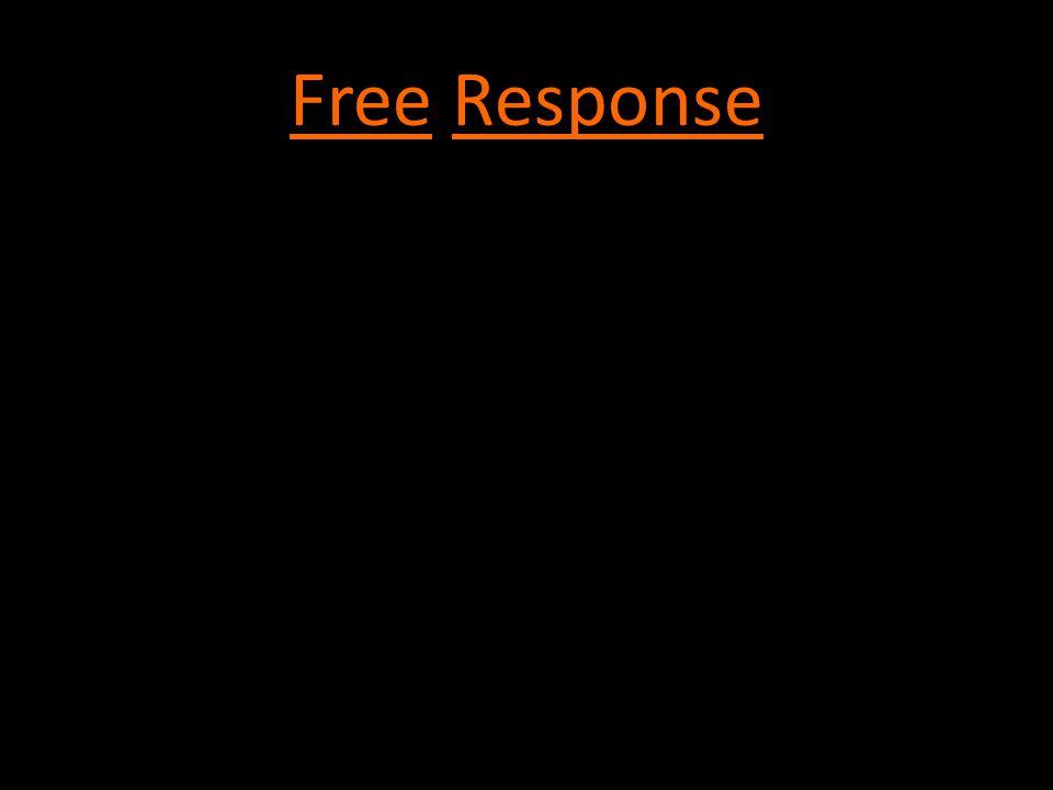 Free Response -Direction words: EXPLAIN, DISCUSS, DESCRIBE