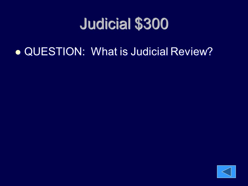 Judicial $300 QUESTION: What is Judicial Review