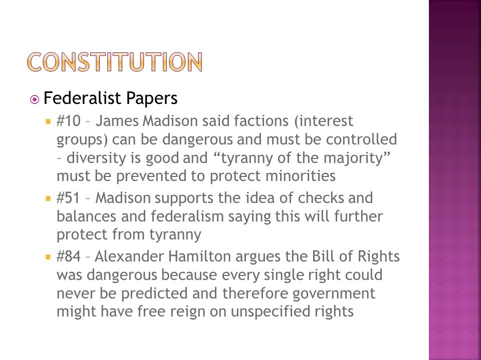Constitution Federalist Papers