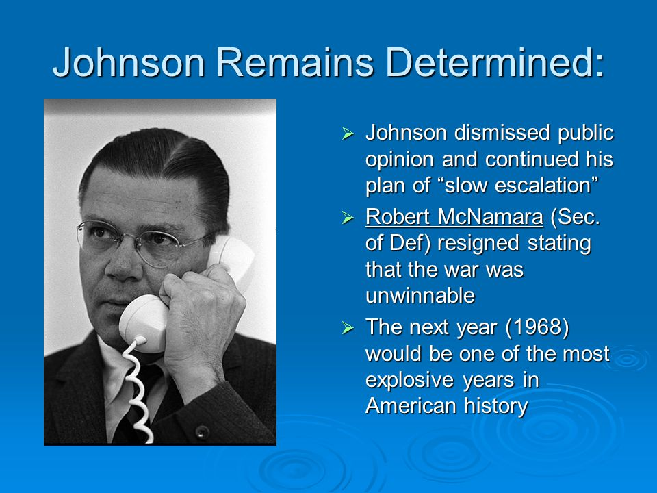 Johnson Remains Determined: