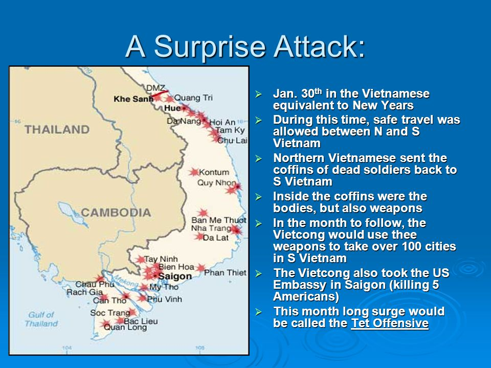 A Surprise Attack: Jan. 30th in the Vietnamese equivalent to New Years
