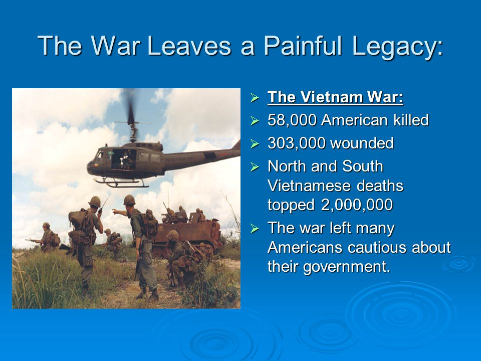 The War Leaves a Painful Legacy: