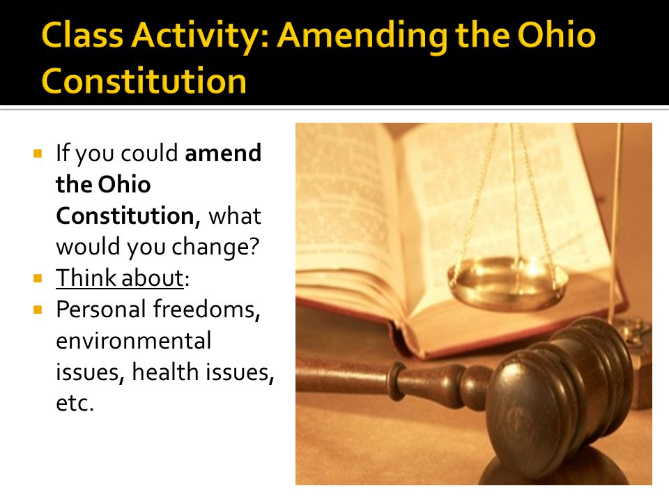 Class Activity: Amending the Ohio Constitution