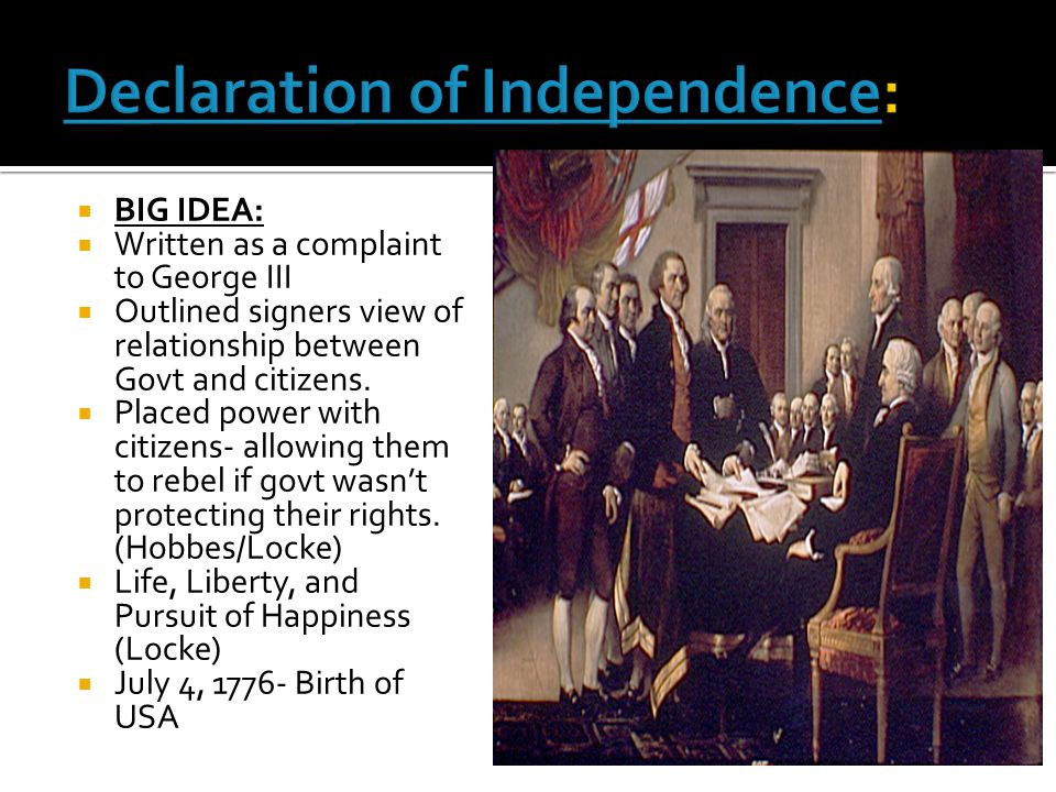 Declaration of Independence: