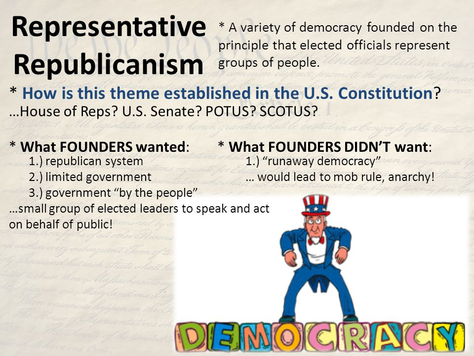 Representative Republicanism