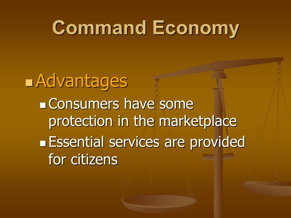 Command Economy Advantages