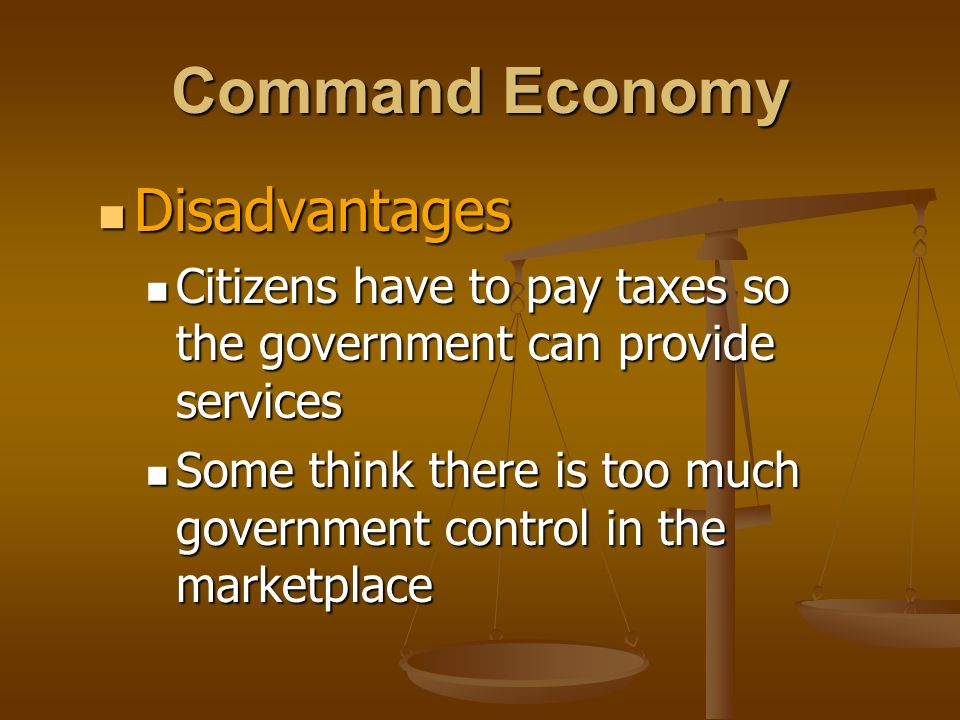 Command Economy Disadvantages