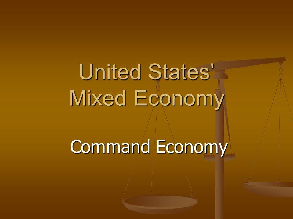 United States' Mixed Economy