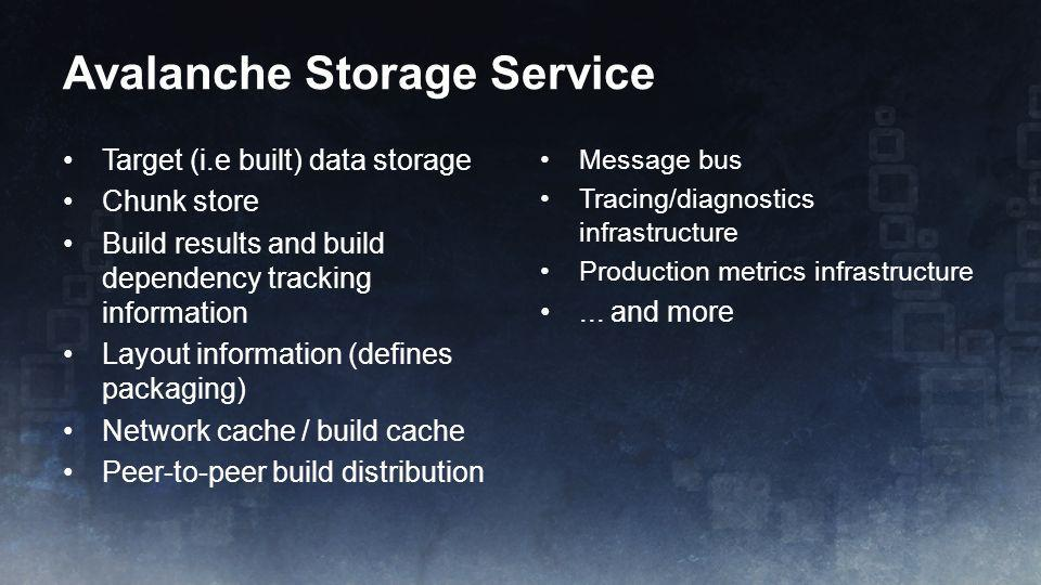 Avalanche Storage Service