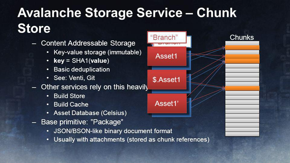 Avalanche Storage Service – Chunk Store