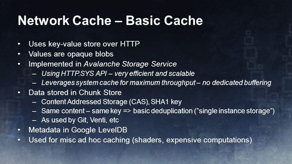 Network Cache – Basic Cache