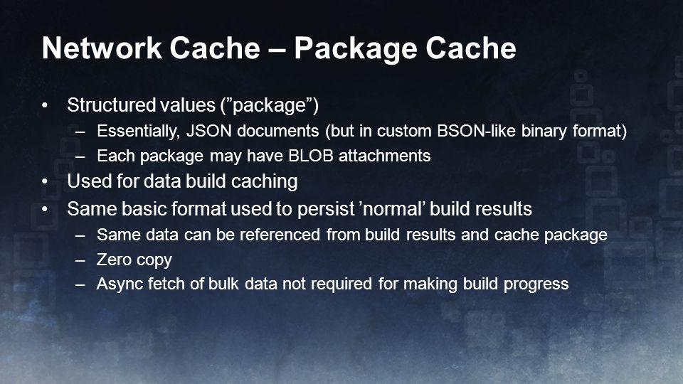 Network Cache – Package Cache
