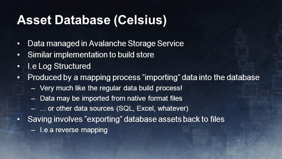 Asset Database (Celsius)