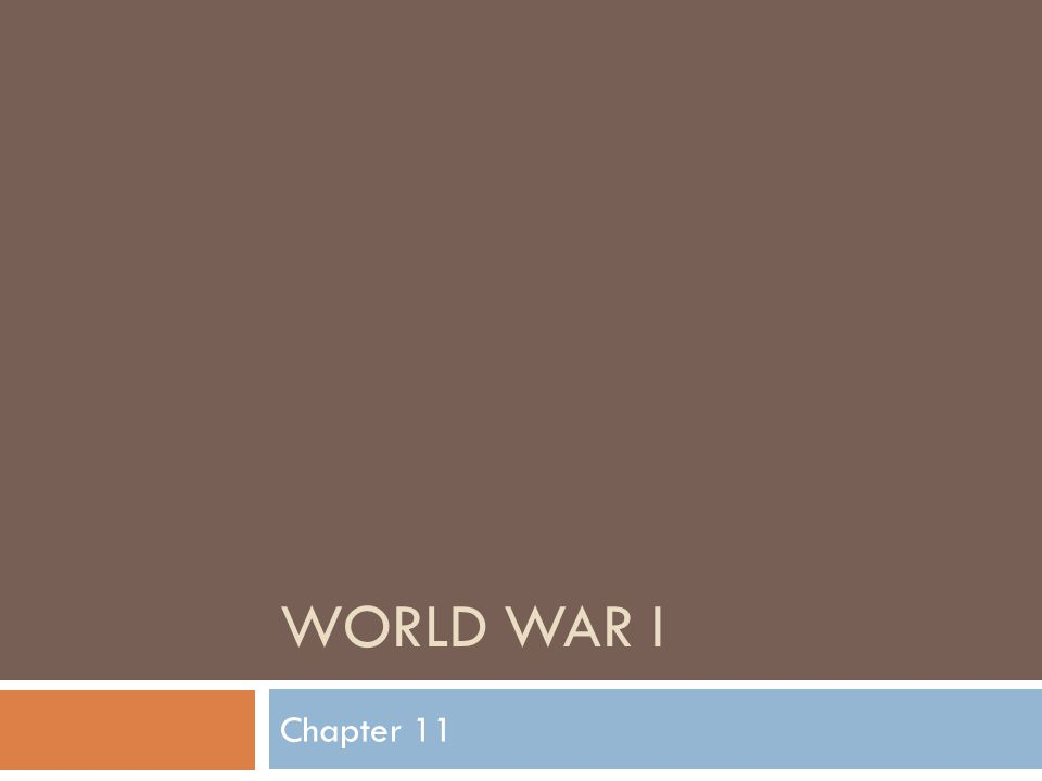 World War I Chapter 11