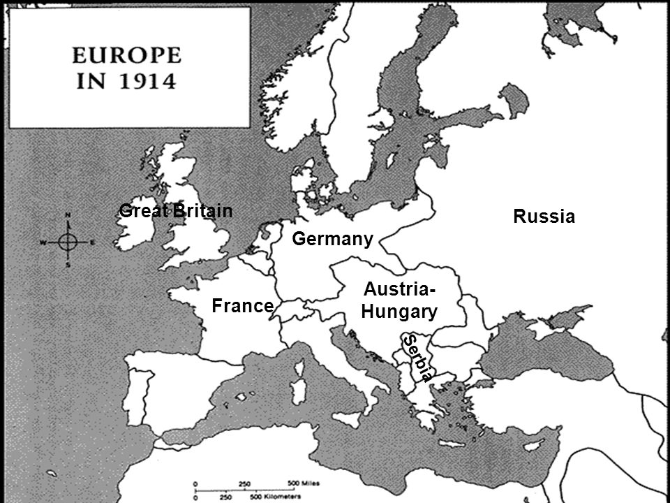 Great Britain Russia Germany Austria-Hungary France