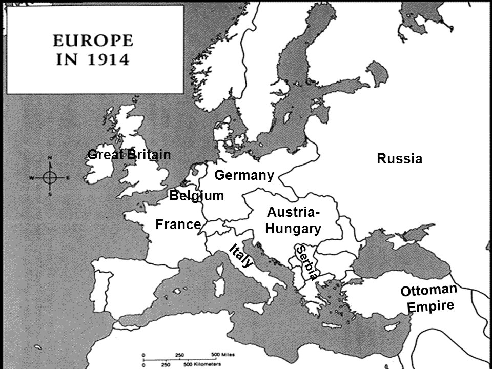 Great Britain Russia Germany Belgium Austria-Hungary France Italy