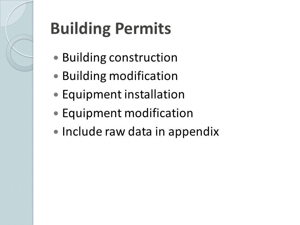 Building Permits Building construction Building modification