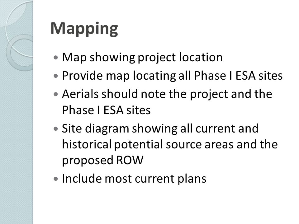 Mapping Map showing project location