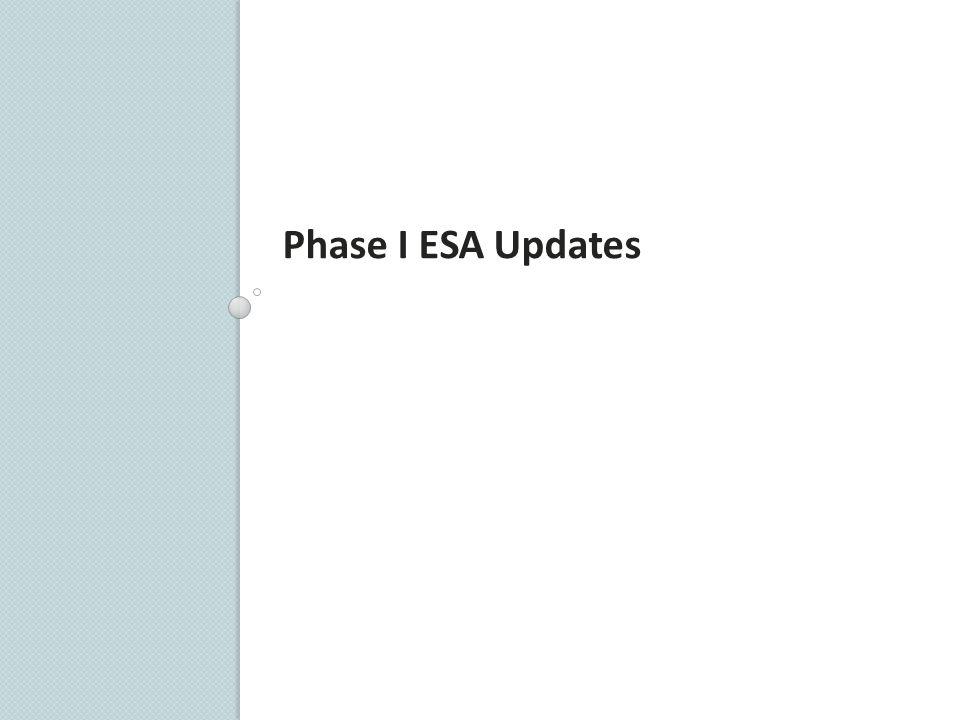 Phase I ESA Updates