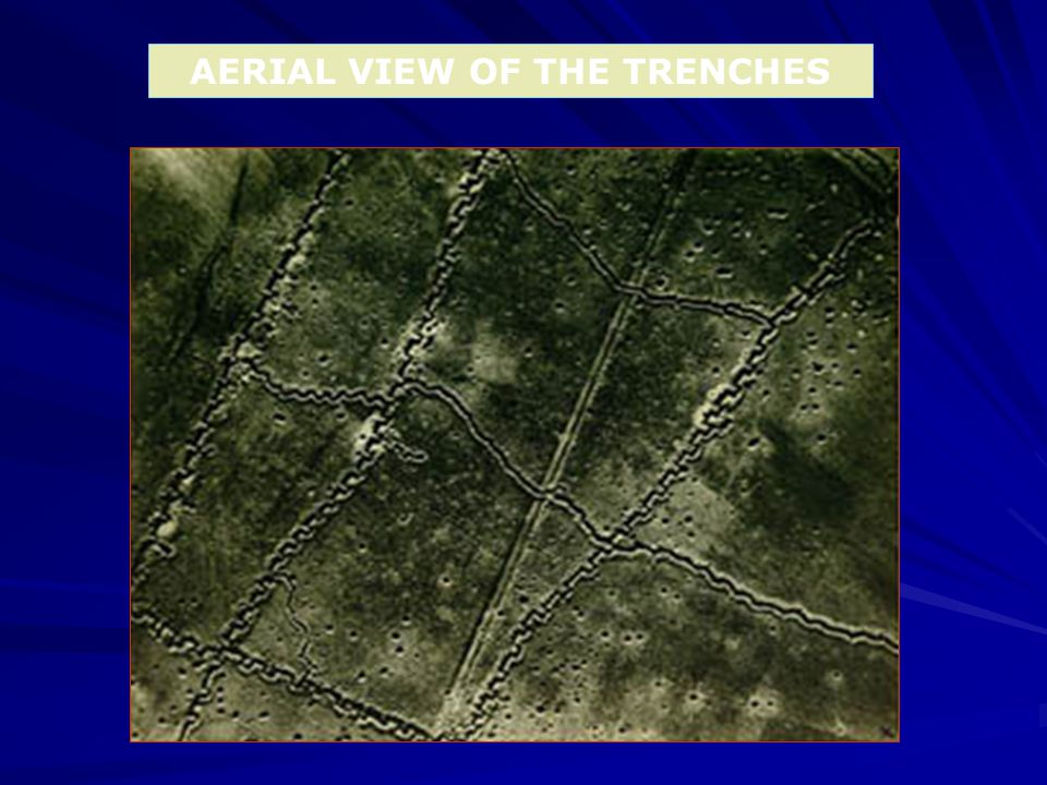 AERIAL VIEW OF THE TRENCHES