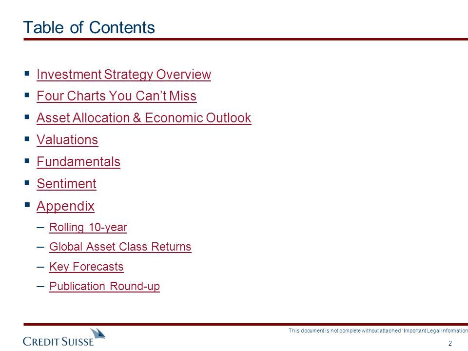 Table of Contents Appendix Investment Strategy Overview