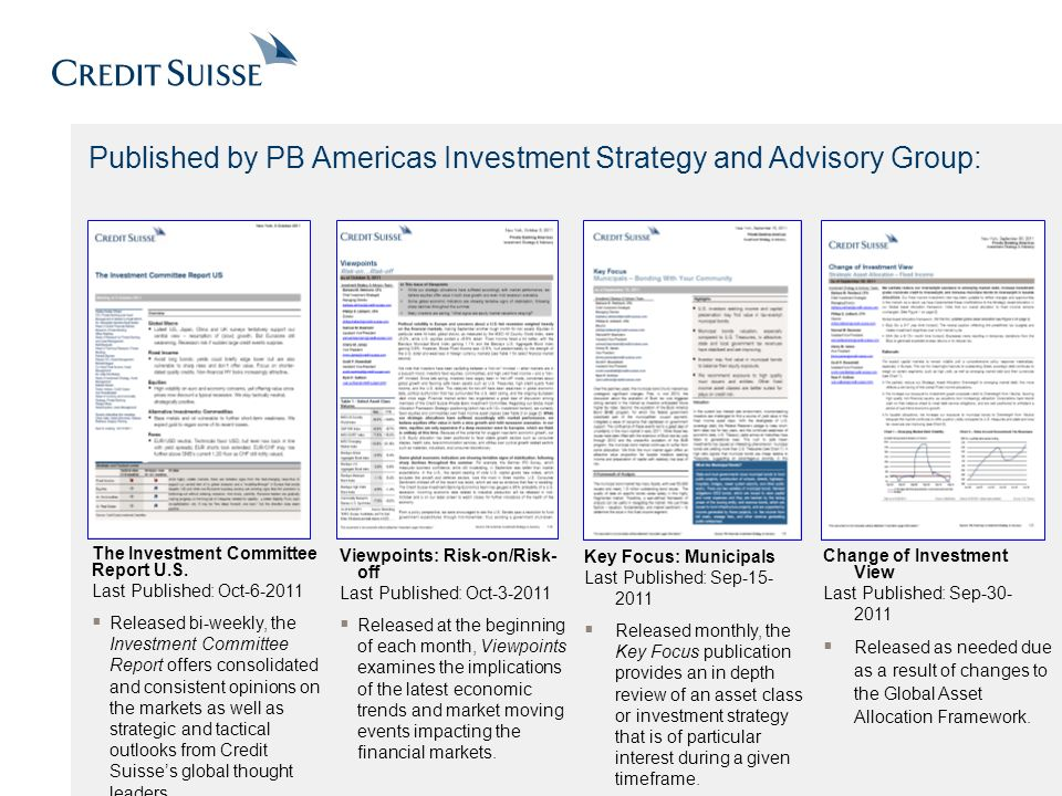 Published by PB Americas Investment Strategy and Advisory Group: