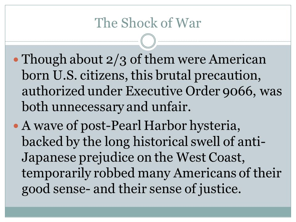 The Shock of War