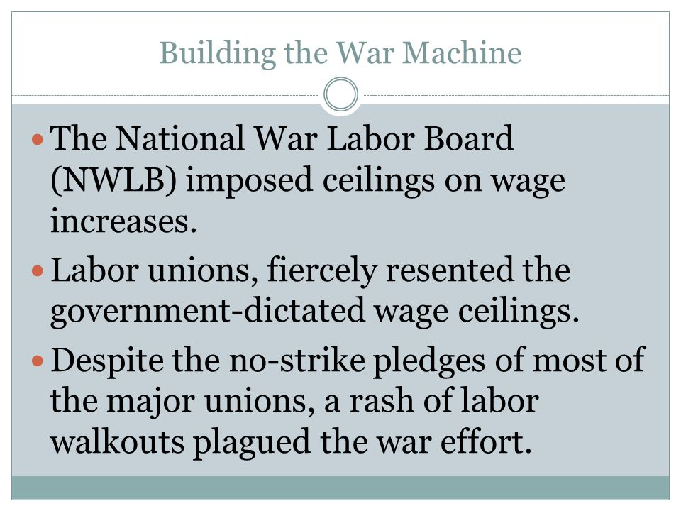 Building the War Machine