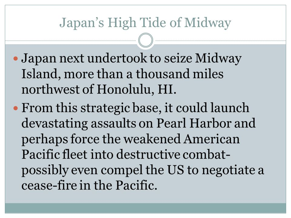 Japan's High Tide of Midway