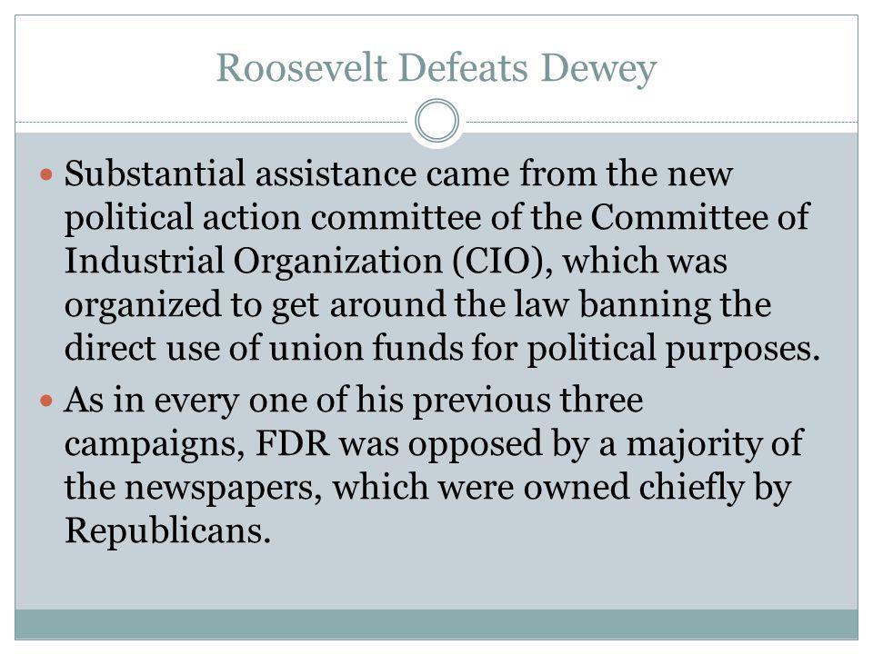 Roosevelt Defeats Dewey