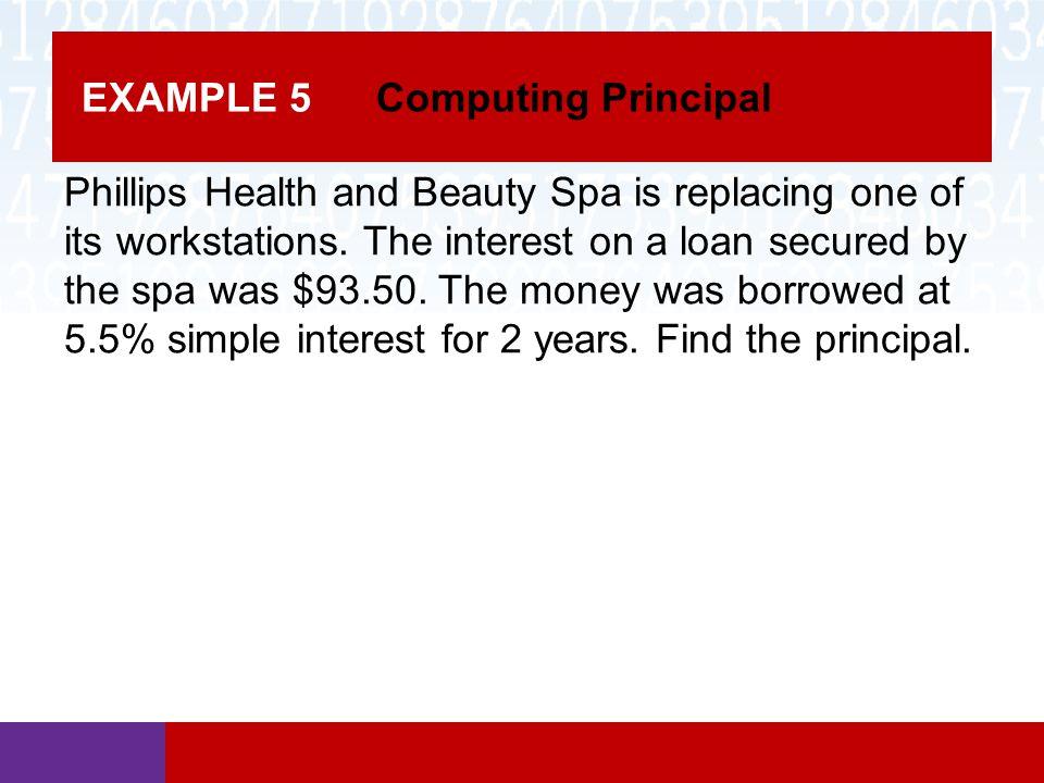 EXAMPLE 5 Computing Principal