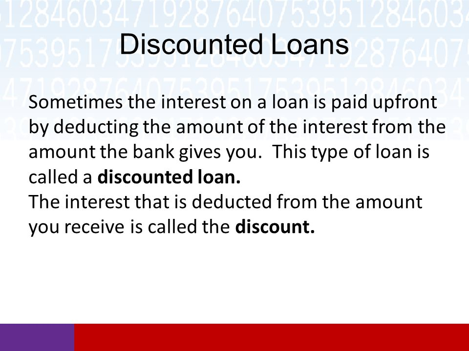 Discounted Loans