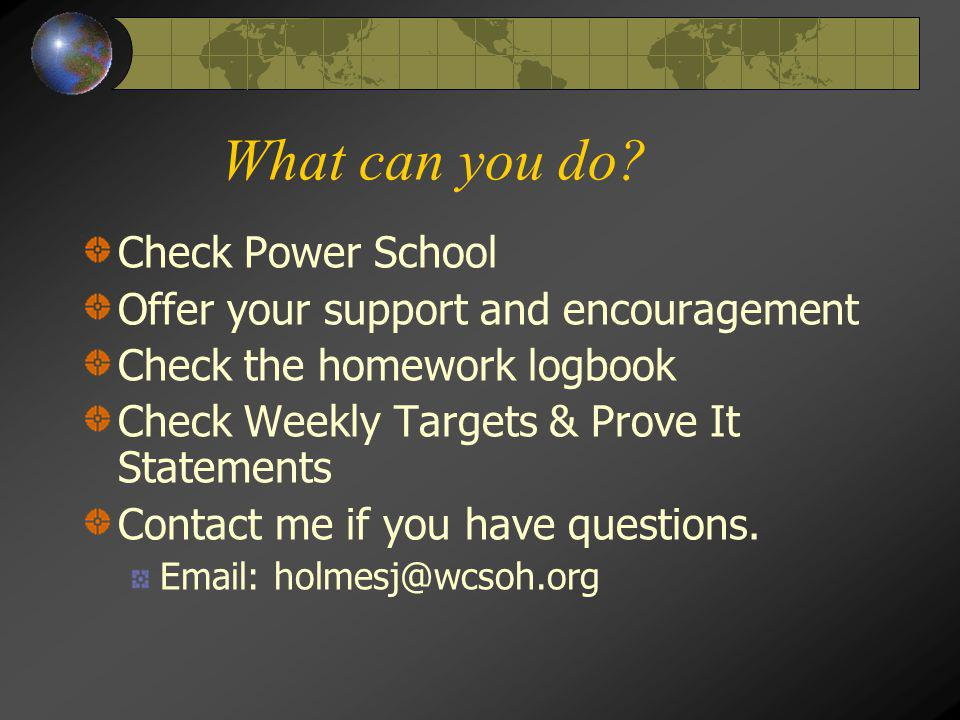 What can you do Check Power School