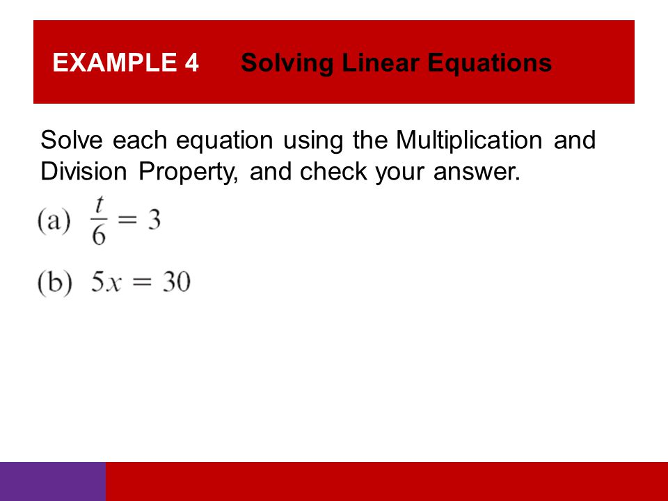 how to solve 4 linear equations