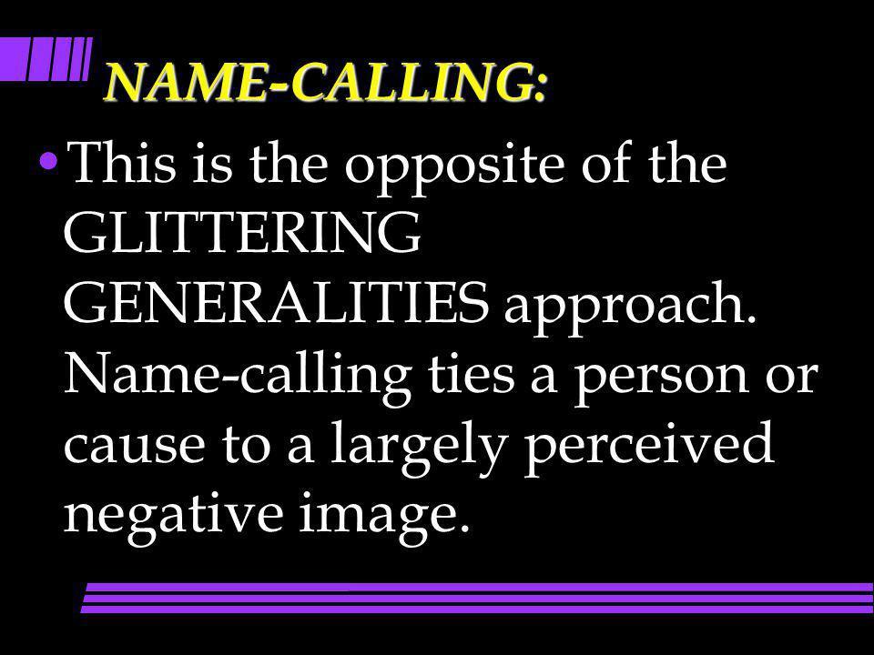 NAME-CALLING: