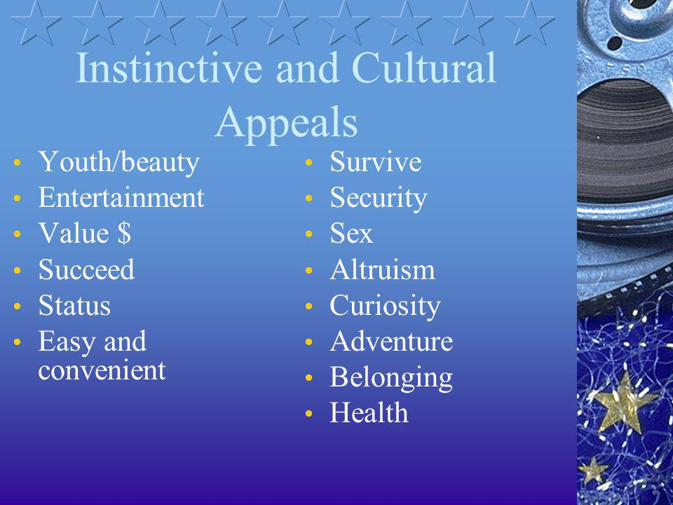 Instinctive and Cultural Appeals