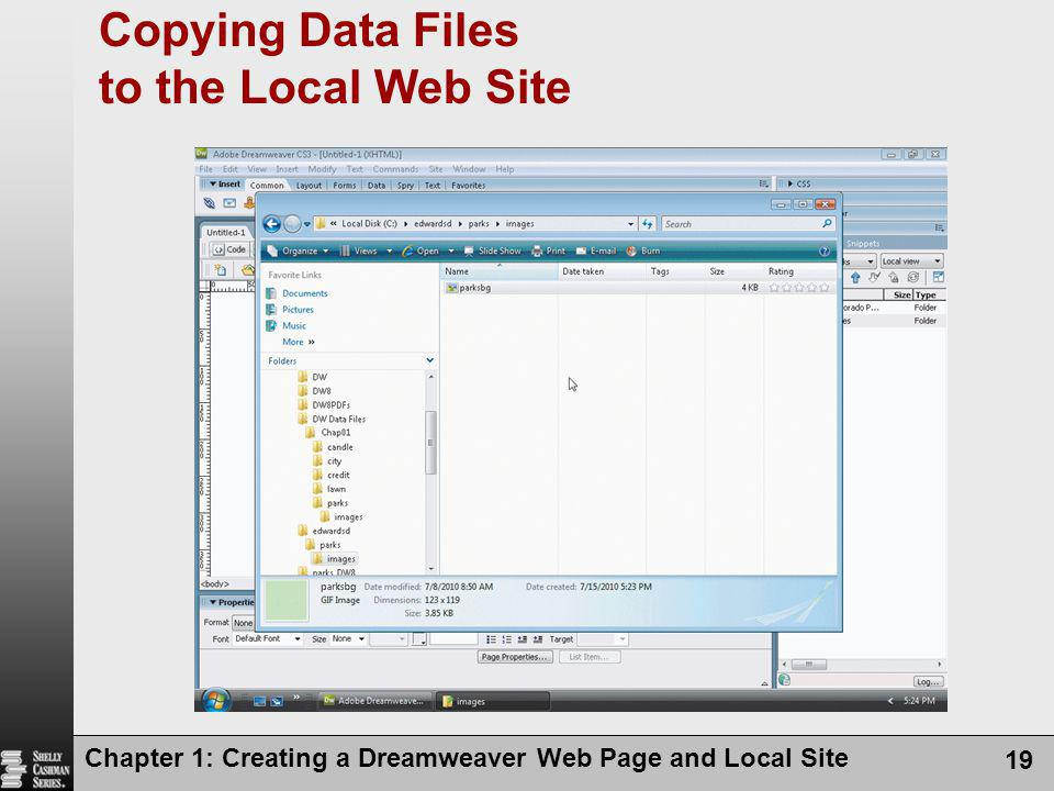 Copying Data Files to the Local Web Site
