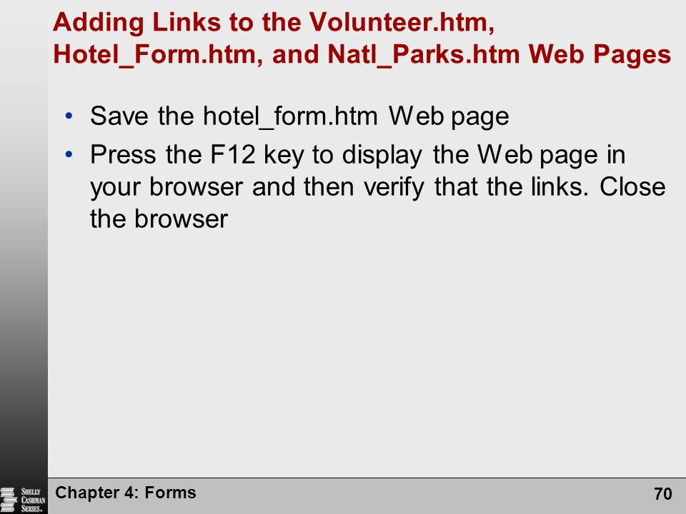 Save the hotel_form.htm Web page