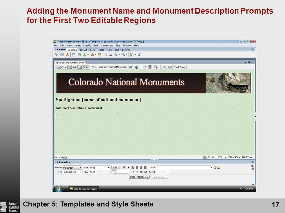 Adding the Monument Name and Monument Description Prompts for the First Two Editable Regions