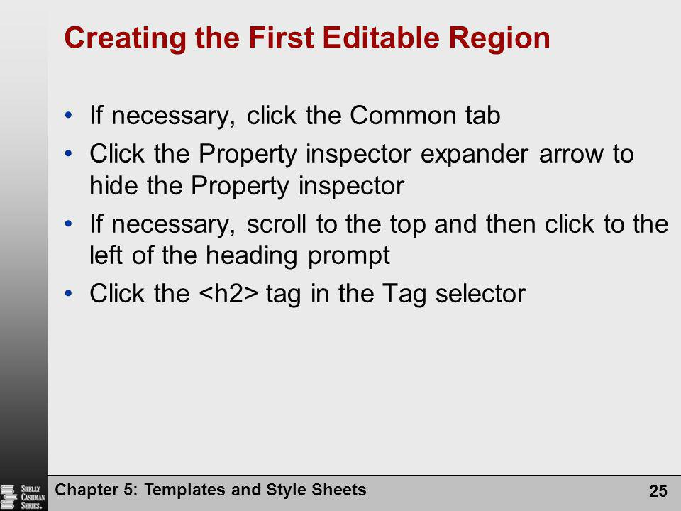 Creating the First Editable Region