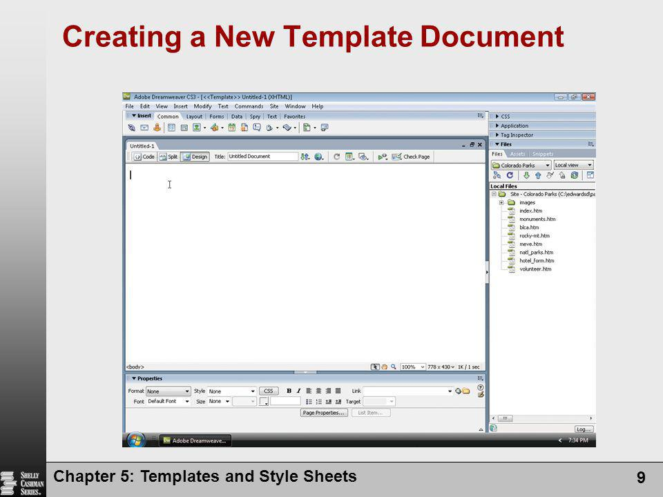 Creating a New Template Document
